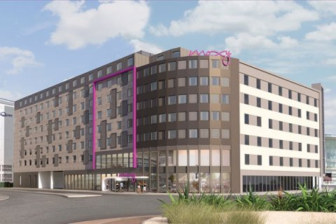 Moxy Hotel Under Construction At Edinburgh Airport Clark Contracts