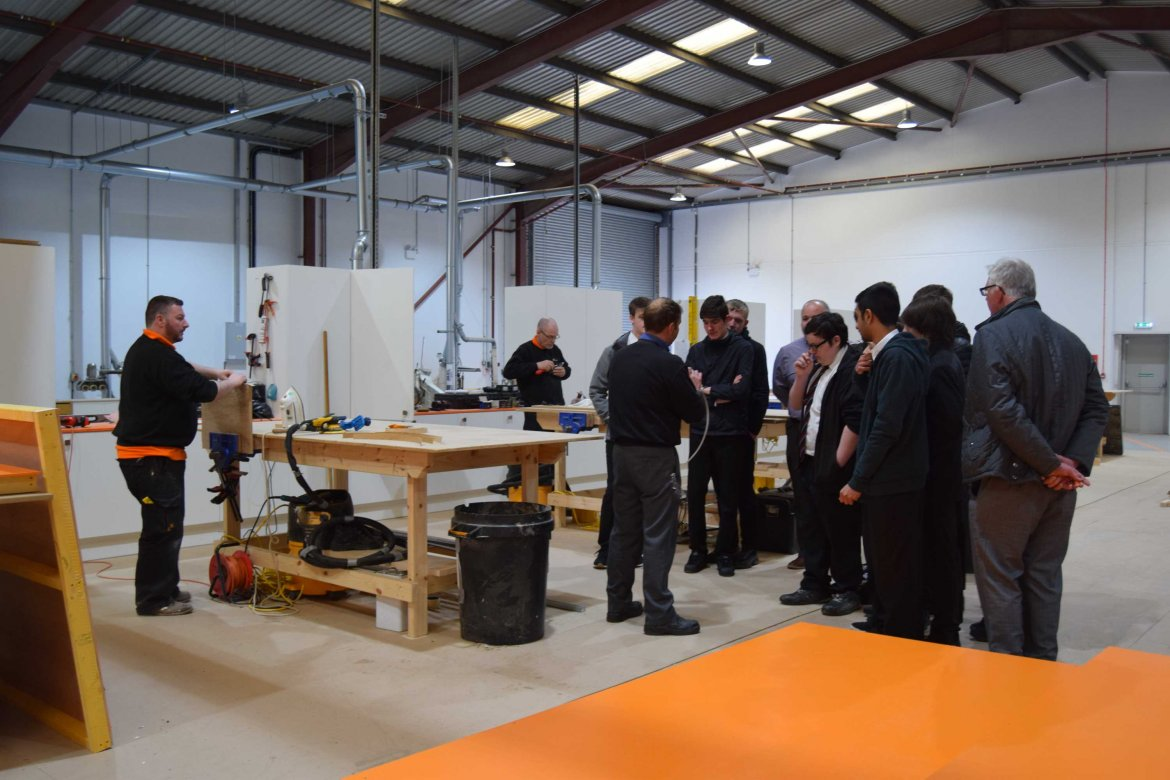 Manufactured Joinery Visit Gleniffer High School Gallery