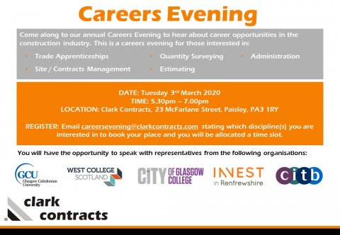 Careers Evening Poster 2020